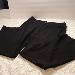 Oleg Cassini Collection Black Slacks size 8 Career